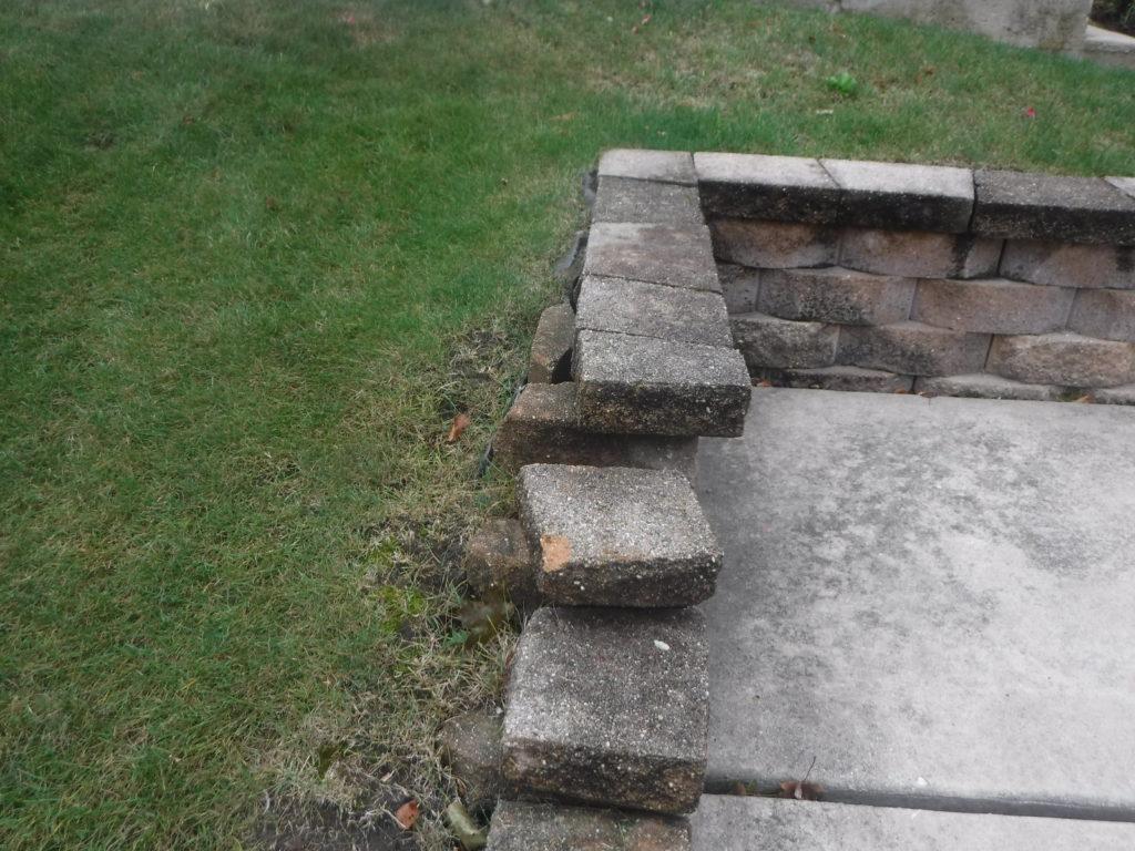 Loose Bricks, safety issue