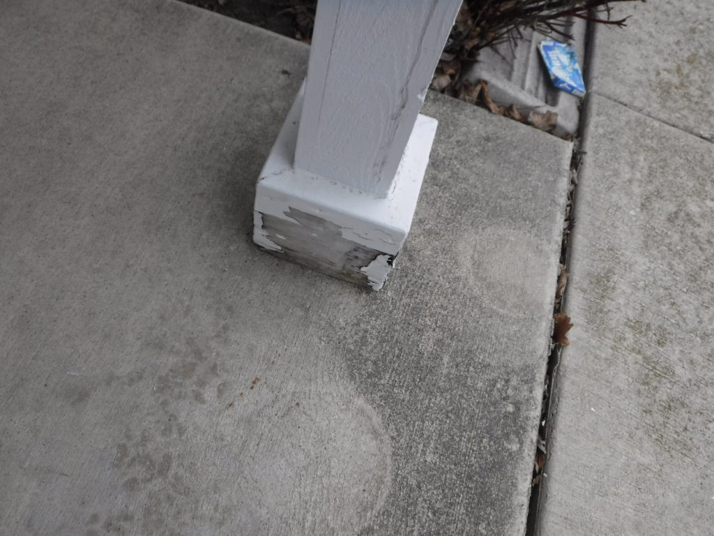 Rotting Porch post Trim