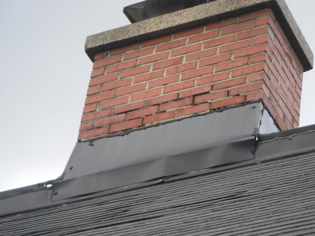 chimney mortar in need of tuck pointing