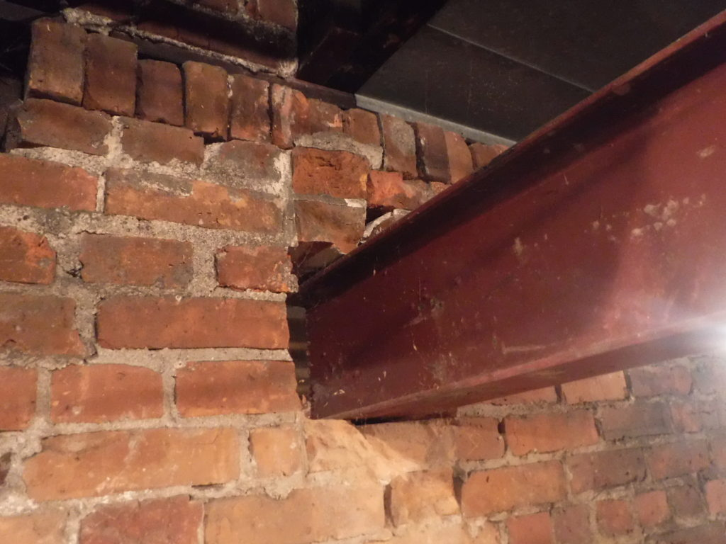 Beam resting on failing wall